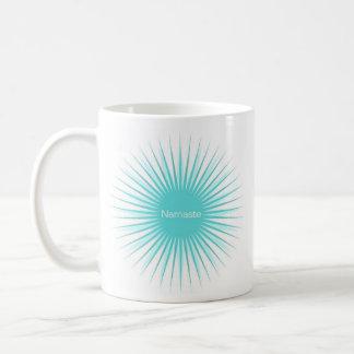 taza azul doble del sol del namaste