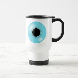 Taza azul grande del globo del ojo
