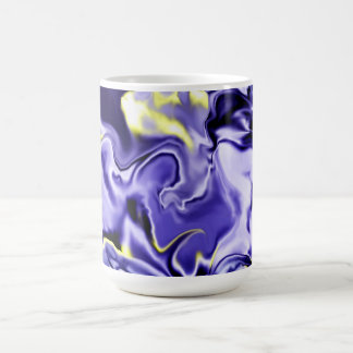 Taza azul líquida de Abtract