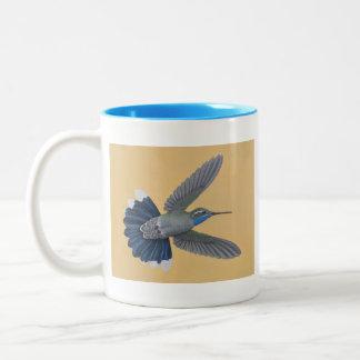 taza Azul-throated del Dos-tono del colibrí