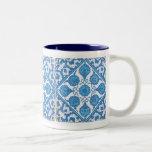 Taza azul y blanca de Delft del Cornflower de café