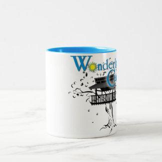 ¡taza azul y blanca del dos-tono! taza de dos tonos