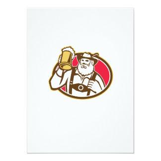 Taza bávara del bebedor de cerveza retra comunicado personalizado