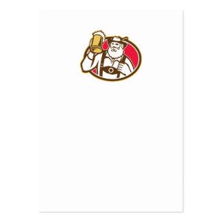 Taza bávara del bebedor de cerveza retra plantillas de tarjetas personales