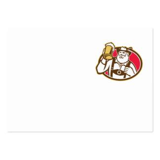 Taza bávara del bebedor de cerveza retra tarjetas de visita