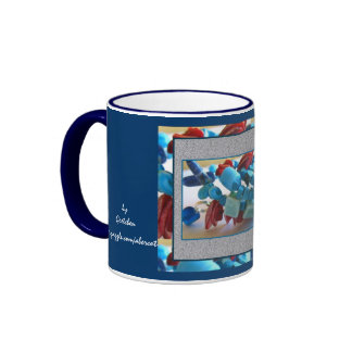 Taza, bebida - azules coralinos 2 taza a dos colores