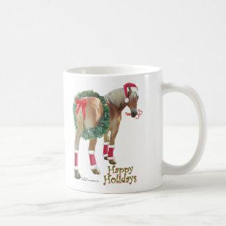 Taza belga del navidad del caballo de proyecto