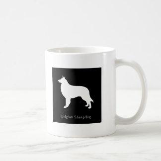 Taza belga del perro pastor (negro)