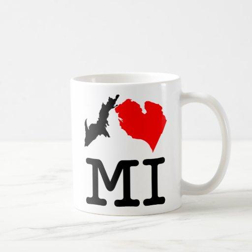 Taza bilateral del MI del ♥ I (corazón Michigan de
