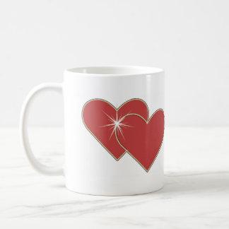 Taza BILATERAL romántica esperanzada de HeartShine