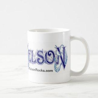 Taza blanca clásica de NELSON