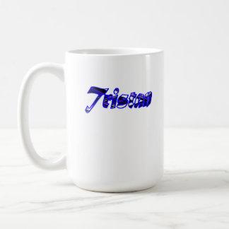 Taza blanca clásica de Tristan 15 onzas