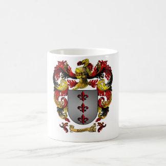 Taza blanca clásica del escudo de armas de Rodrígu