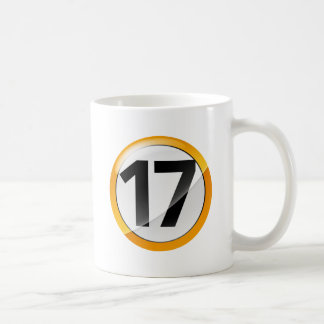 taza blanca clásica del oro 17