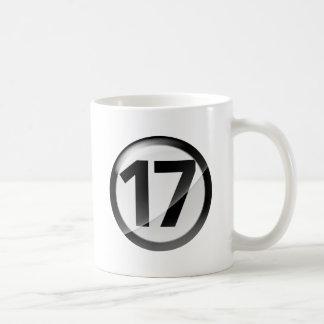 taza blanca clásica negra 17