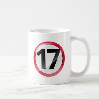taza blanca clásica roja 17