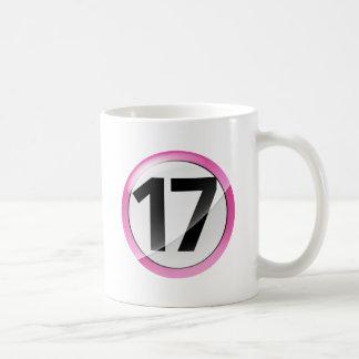 taza blanca clásica rosada 17
