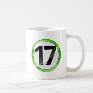 taza blanca clásica verde 17