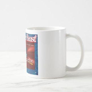 Taza blanca con diseño Anti-NWO