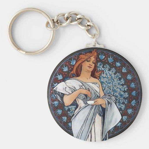 Taza blanca de la cuchara de la mujer del vestido  llaveros personalizados
