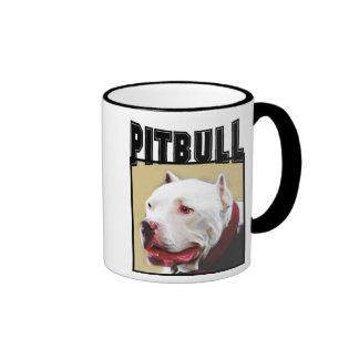 Taza blanca de Pitbull