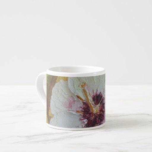 Taza blanca del café express del hibisco taza espresso
