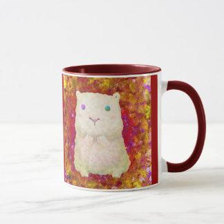 taza blanca del cavy (ROJA)