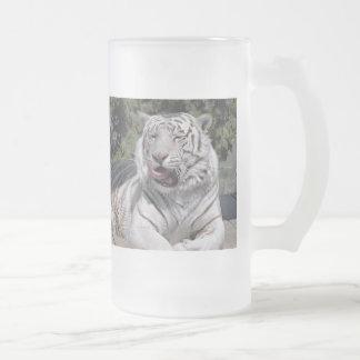 Taza blanca del tigre 10