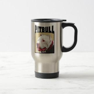 Taza blanca del viaje de Pitbull