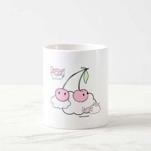 Taza blanca Dolce de las cerezas el   de la cereza