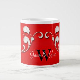 Taza blanca personalizada del remolino taza grande