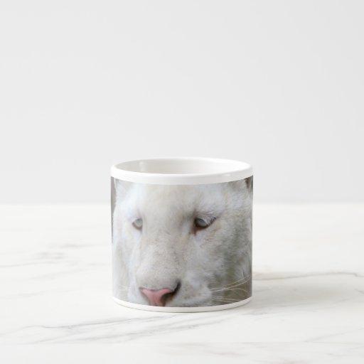 Taza blanca rara de la especialidad del tigre taza espresso
