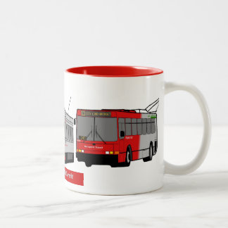 Taza blanca/roja del tránsito de la superficie del