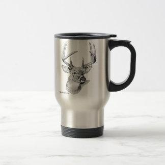 taza Blanco-atada de los ciervos