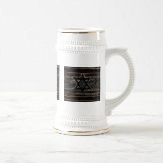 taza blanco y negro abstracta de Israel