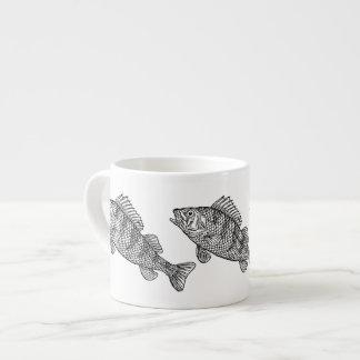 Taza blanco y negro asombrosa de los pescados taza espresso