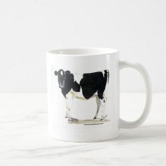 taza blanco y negro de la vaca