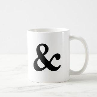 """Taza blanco y negro del signo """"&"""""""