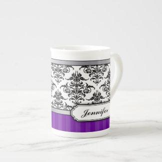 Taza blanco y negro elegante de la porcelana de hu taza de china