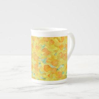 Taza bonita de la porcelana de hueso, narcisos ama tazas de porcelana