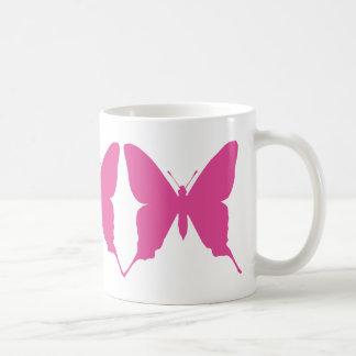 Taza bonita de las mariposas