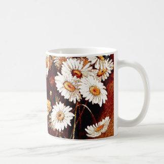 Taza botánica floral de las flores de los