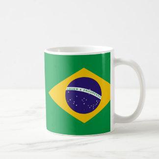 ¡Taza brasileña hermosa de la bandera! Diseño Taza Clásica
