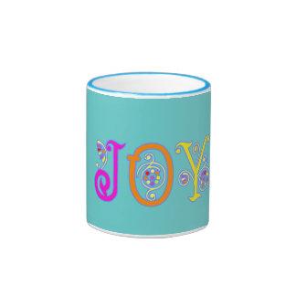Taza brillante de la alegría