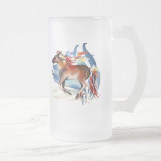 Taza brillante de las plumas del caballo N