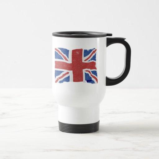 Taza BRITÁNICA de la bandera 2 del vintage