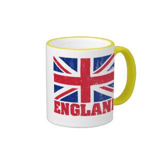 Taza británica de la bandera de Union Jack