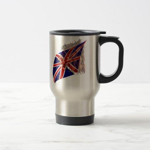 """Taza británica del león de la bandera """"n"""""""