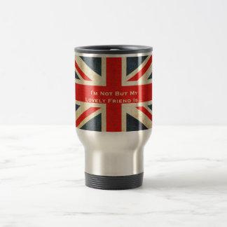 Taza británica del viaje de Union Jack del Grunge