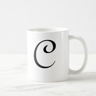 "Taza ""C "" del monograma"